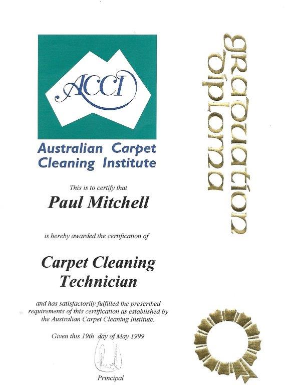 Carpet Cleaning Accreditation