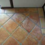 after cleaning ceramic tiles