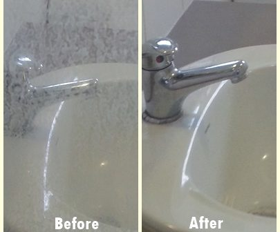 Before and After Shower Screen Cleaning