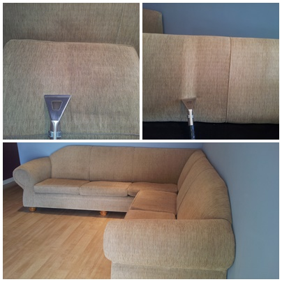 before & after sofa clean