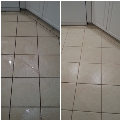 before & after tile & grout clean